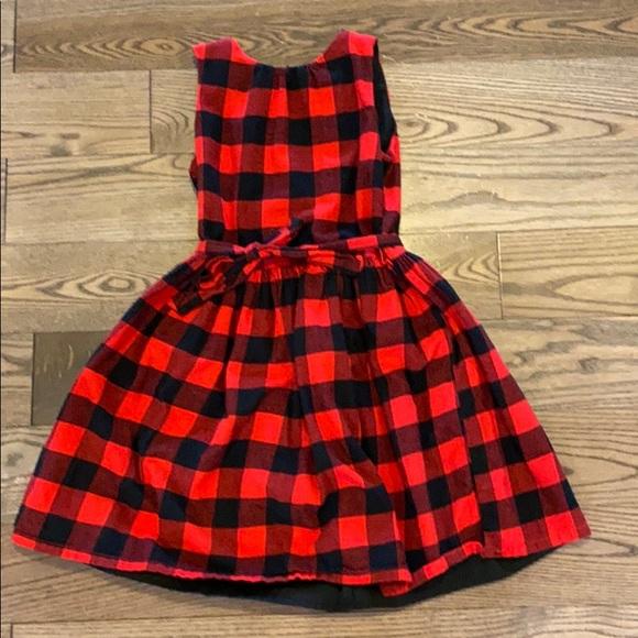 Girls buffalo plaid dress